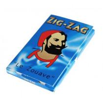 """Carnet Zig Zag bleu """"le zouave"""" regular de 100 feuilles à rouler"""