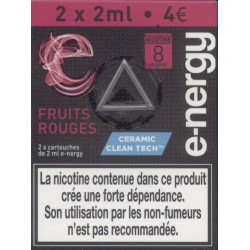 Clearomiseur FRUITS ROUGES E-nergy vape 2 ml