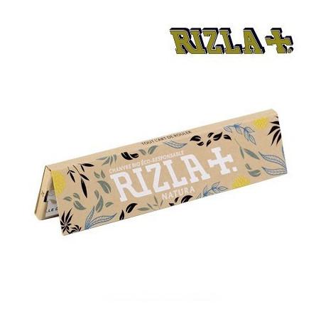 Papier Rizla+ slim natura non blanchi - 32 feuilles à rouler