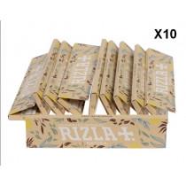 Papier Rizla + slim natura non blanchi- carnet X10