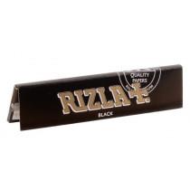 RIZLA + Slim Noir- carnet 32 feuilles à rouler pour tabac.