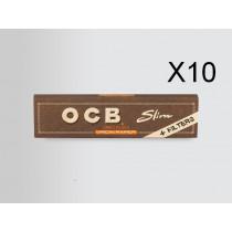 PAPIER SLIM BIO + FILTRE TONCAR - OCB FILTRE MARRON - SMOKINGBOX