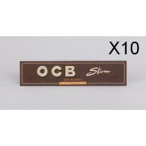 10 X Papier OCB slim Virgin de 32 feuilles à rouler