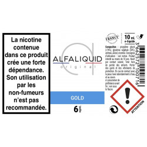 GOLD E-LIQUIDE ALFALIQUID ORIGINAL CLASSIQUE