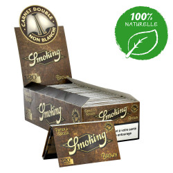 25 X Carnet de Smoking Brown – 120 feuilles