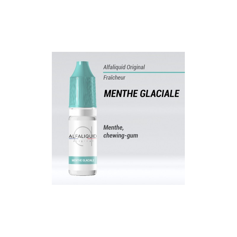 E-LIQUIDE MENTHE GLACIAL - menthe chewing gum - ALFALIQUID