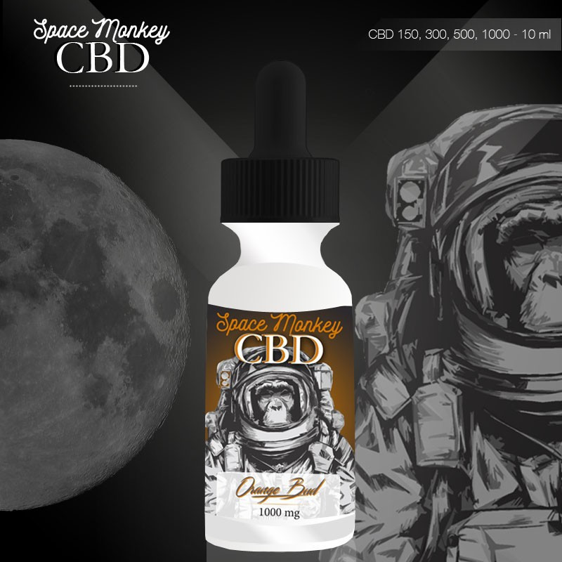 E-liquide CBD 150 mg Orange Bud - Space Monkey