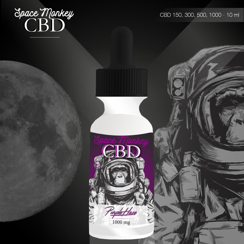 E-liquide CBD 150 mg Purple Haze - Space Monkey