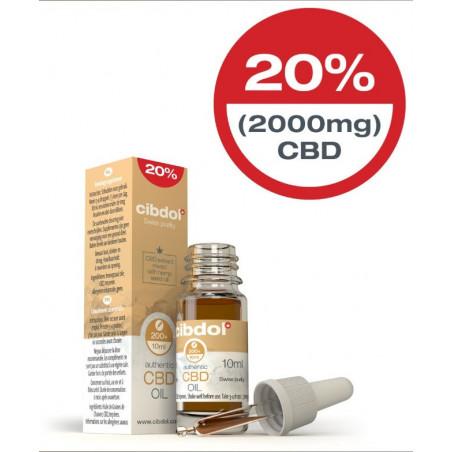 Huile CBD 20% CBD (2000mg) Authentic CIBDOL 10ml