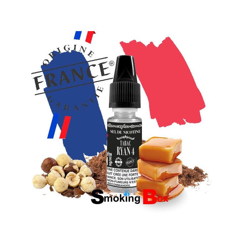 ryan-4-sel-de-nicotinee-e-liquide-tabac-classic-blond-americain-caramélisé-noisette-grillé-sans-hit-gros-fumeur-conceptarome-con