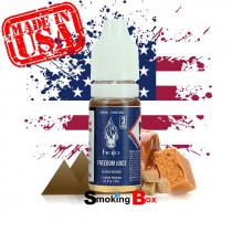 E-liquide US Halo Freedom juice, saveur tabac brun sucré caramel tendre et rond avec une vape intense au hit prononcé américain.