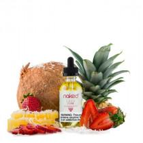 E-liquide Naked 100 Lava Flow, saveur fraise, ananas, noix de coco, une vape americain pour cigarette electronique.