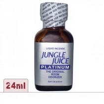 Poppers jungle juice platinum 24ml grand format pour une utilisation en groupe de soirée.