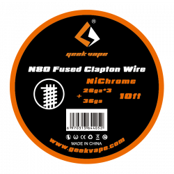 N80 FUSED CLAPTON WIRE - GEEK VAPE