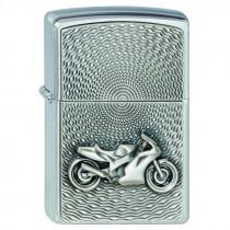 Motobike en relief 3d briquet  Zippo, garantie à vie pour allumer votre cigarette de tous les jours.