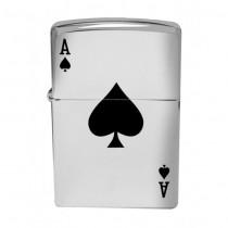 Pique de As, jeu de carte, Zippo, garantie à vie pour allumer votre cigarette de tous les jours.