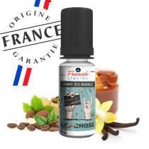 E-liquide la petite chose par le french liquide, au café, caramel, vanille, noisette, pistache, pas cher.