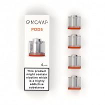 4 cartouches pods rechargeable et interchangeable - made in France par la starup ENOVAP - Pas cher