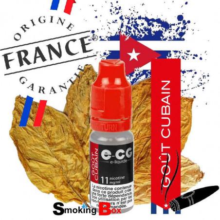 E-liquide saveur feuille tabac cigare cubain de la havane rouler à la main, origine france garantie, chez votre buraliste.