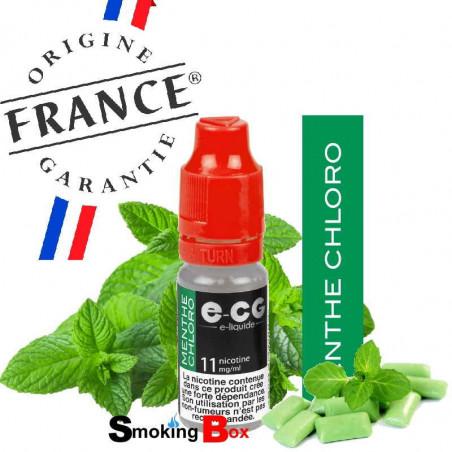 E-liquide menthe chloro chlorophile, ultra frais, chez votre buraliste, origine france garantie.