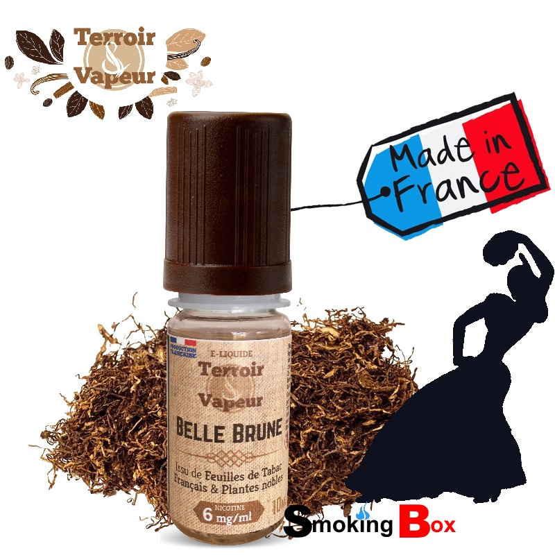 Liquide et arome tabac brun - feuille tabac naturel macéré - fumeur de tabac brun - gitane - français (Tabac) - Terroir & Vapeur