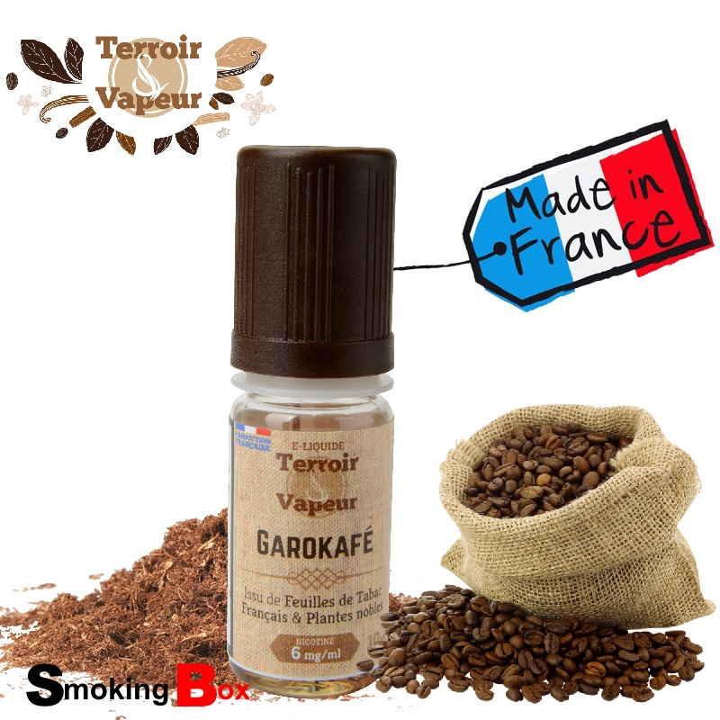Liquide tabac classic garokafé, note café expresso  torrifié au feuille tabac naturel macéré -  français