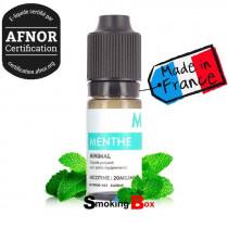 E liquide Menthe Minimal. Un e-liquide rafraîchissant à la menthe naturelle et contenant des sels de nicotine.