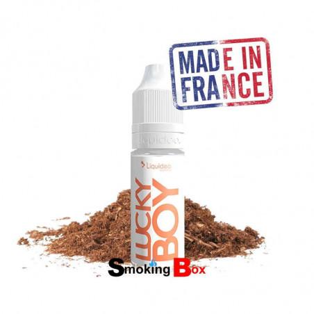 Liquide de tabac Liquideo lucky boy, fort, sec, légèrement corsé, liquide cigarette electronique bon marché.