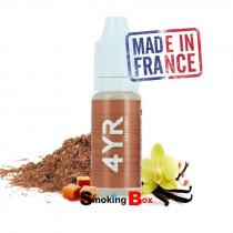 Liquide 4yr liquideo, ry4, tabac classic blond gourmand sucré, vanille, caramel, français cigarette-electronique