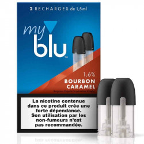 Recharge capsule BOURBON CARAMEL - Myblu UK - sans fuite - Traçabilité garantie