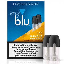 Recharge capsule MANGUE ABRICOT - Myblu UK - sans fuite - Traçabilité garantie