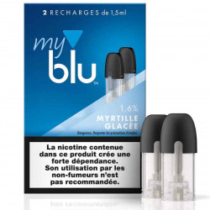 Recharge capsule MYRTILLE GLACÉE - Myblu UK - sans fuite - Traçabilité garantie