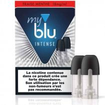 Recharge au sel de nicotine - Cartouche FRAISE MENTHE INTENSE - Myblu - Gros fumeur en reconversion de vapotage