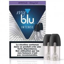 Recharge au sel de nicotine - capsule MYRTILLE INTENSE - Myblu - Gros fumeur en reconversion de vapotage