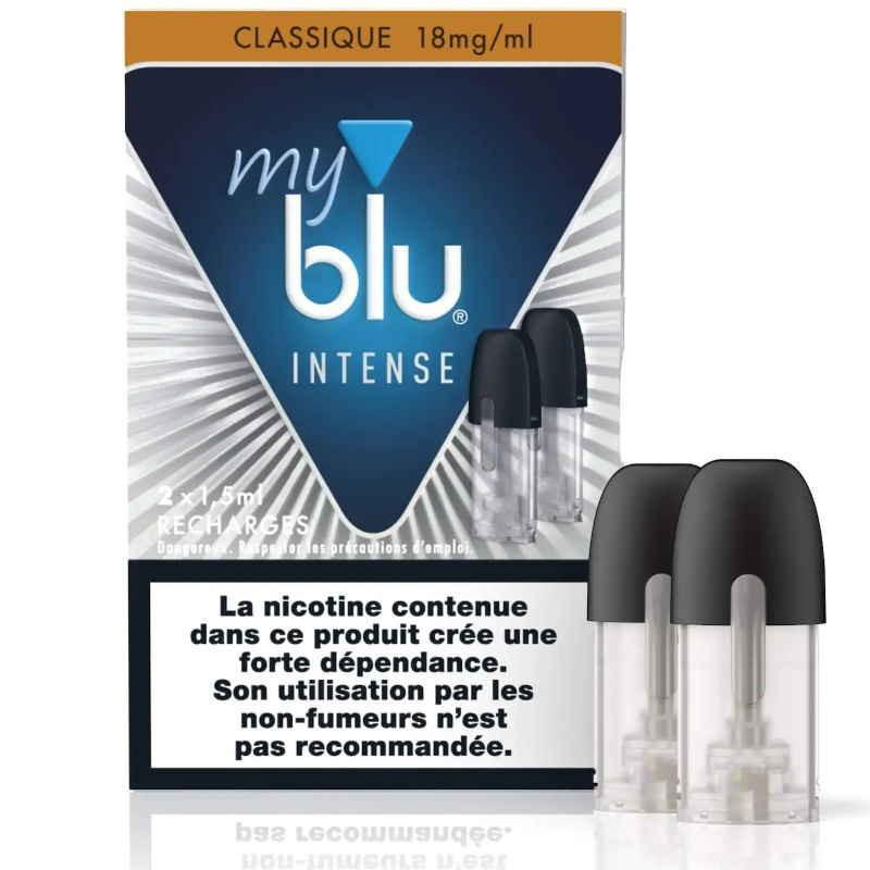 Recharge capsule Tabac INTENSE classique - sel de nicotine - Myblu - Gros fumeur en reconversion de vapotage