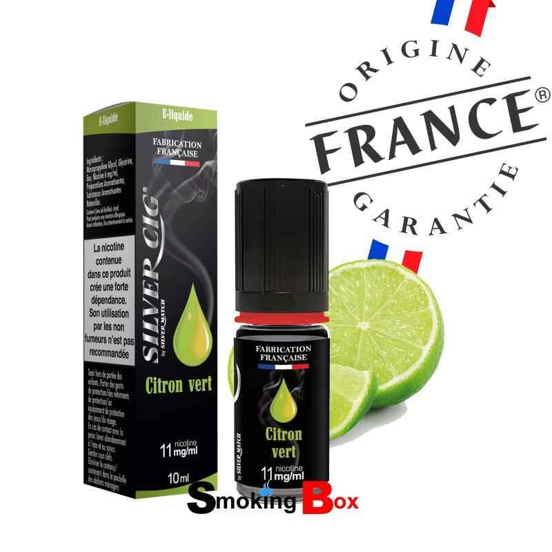 liquide et arome citron vert - silvercig - origine france garantie - pas cher - buraliste