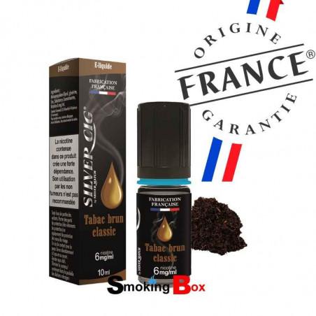 liquide et arome tabac brun classic - silvercig - origine france garantie - pas cher - buraliste