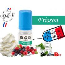E-liquide FRISSON SIGNATURE E-CG SAVEUR FRUITS ROUGES DES BOIS CREMEUSE ET MENTHOLE POUR VAPE TRES GOURMANDE.