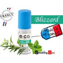 E-liquide BLIZZARD SIGNATURE E-CG, SAVEUR MENTHE INTENSE, NOTE FRAICHE D'EUCALYPTUS POUR UN RAFRAICHISSEMENT GIVRE.
