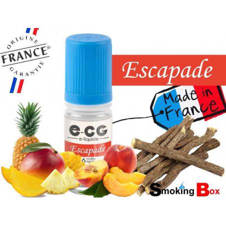 E-liquide ESCAPADE SIGNATURE E-CG, SAVEUR FRUITS JAUNES, PÊCHE