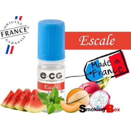 E-liquide ESCALE SIGNATURE E-CG, SAVEUR ESTIVALE AU PASTEQUE, MELON ET FRUIT DU DRAGON POUR UNE POINTE D'EXOTISME.