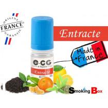 E-liquide ENTRACTE SIGNATURE E-CG, SAVEUR THE ET VERVEINE, AGRUMES MANDARINE ET CITRON POUR CIGARETTE ELECTRONIQUE EN SUB-OHM.