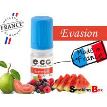 E-liquide EVASION SIGNATURE E-CG , SAVEUR FRUITS ROUGES, PASTEQUE ET GOYAVE EXOTIQUE POUR UNE VAPE D'ETE FRUITÉ.