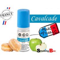 E-liquide CAVALCADE SIGNATURE E-CG, SAVEUR BEIGNET CRÉMEUSE ET SUCRÉ, POMME VERTE ACIDE POUR UNE VAPE GOURMANDE.