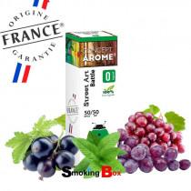 E-liquide Battle au saveur raisin, cassis, menthe - Street Art by Conceptarome. E-liquide de bonne qualité et pas cher.