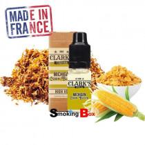 "E-liquide tabac MICHIGAN CORN BLEND - Clark's - saveur ""Classique"", Maïs, Céréales - Made in France"