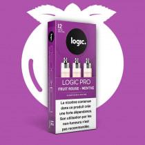 Cartouche logic pro parfum fruits rouges menthe, garantie sans fuite pour votre cigarette électronique, buraliste.