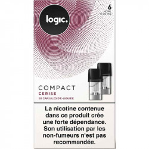 Cartouche - capsule scellé Compact Logic, saveur cerise pour Pod Logic compact, pas cher.