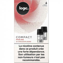 Cartouche - capsule scellé Compact Logic, saveur fraise pour Pod Logic compact, pas cher.