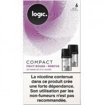Cartouche - capsule scellé Compact Logic, saveur fruits rouges menthe pour Pod Logic compact, pas cher.